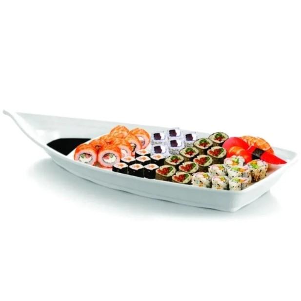 Barco De Sushi-sashimi 41,3x18,0x6,7cm Em Melamina Profissional Ref:gx5472 - Marcamix