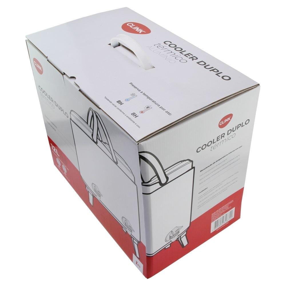 Botijão Térmico Duplo 12 Litros 6/6l Ref:ck3554 - Clink