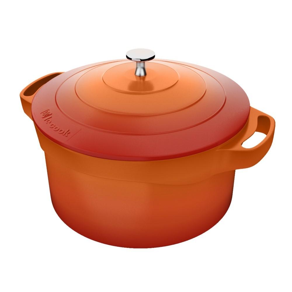 Caçarola Le Cook 24cm Com Pegadores De Silicone Ref:lc1803 - Le Cook