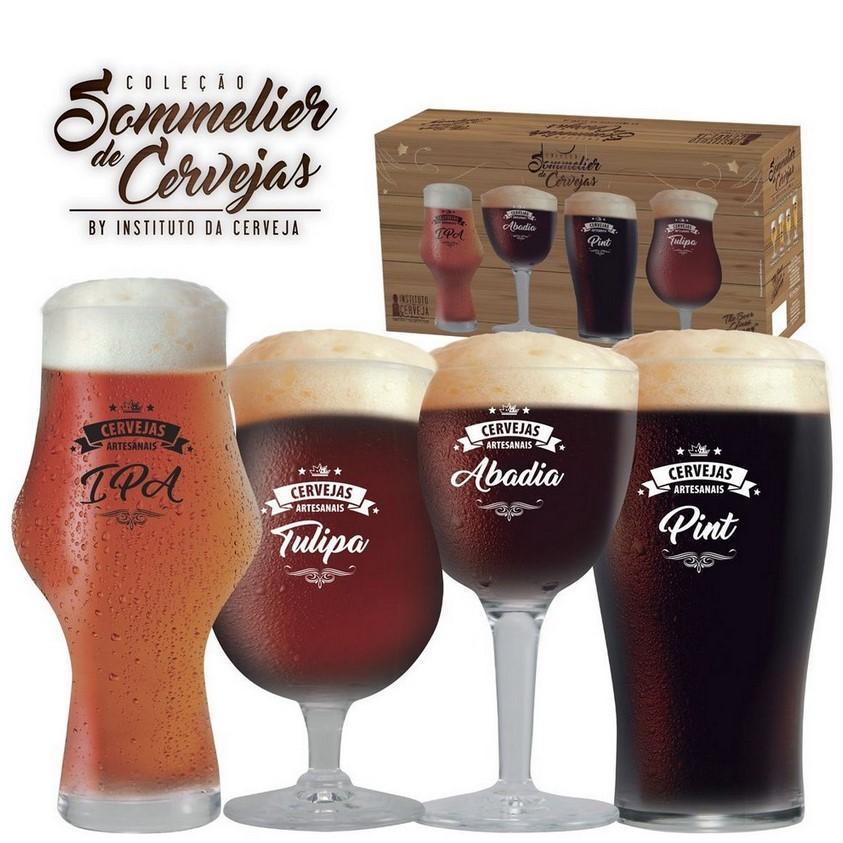 Conjunto Beer Sommelier Cervejas Escuras Com 4 Peças Ref:4800003 - Ruvolo