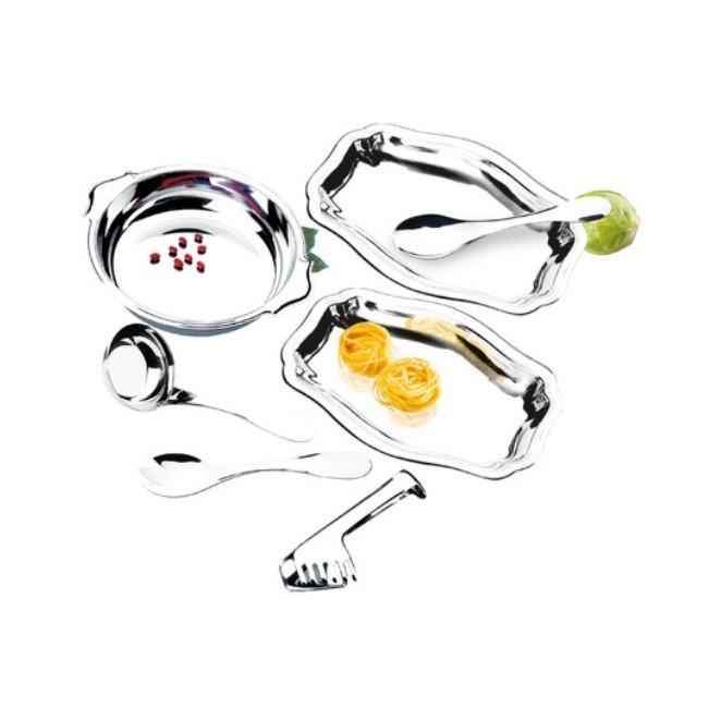 Conjunto Para Servir Inox Perfectha 7 Peças Ref:5121 - Zanella