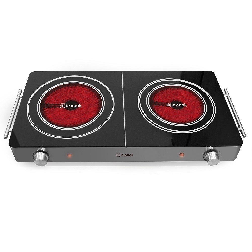 Cook Top 1.800w 2 Boca 62,0x29,8x7,4 Cm 127v Ref:lc1711 - Le Cook