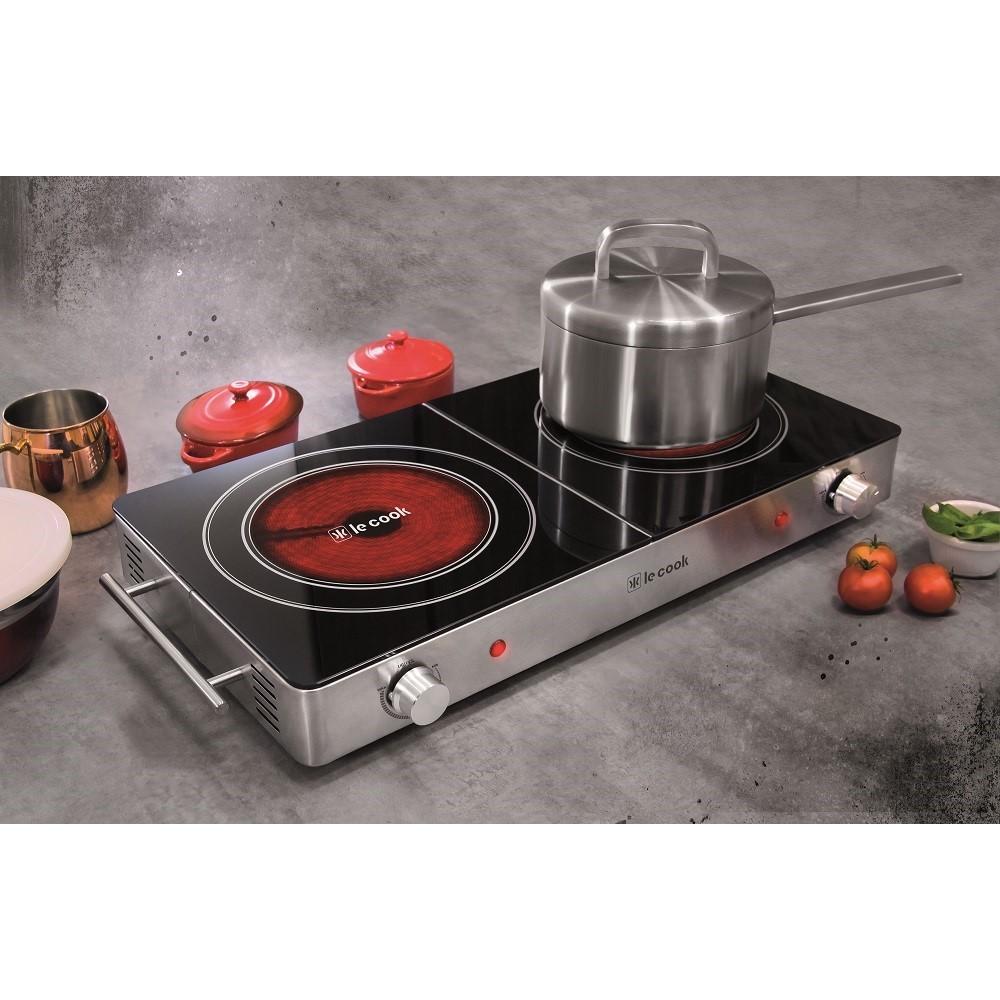 Cook Top 3.000w 2 Boca 62,0x29,9x6,5 Cm 220v Ref:lc1704 - Le Cook