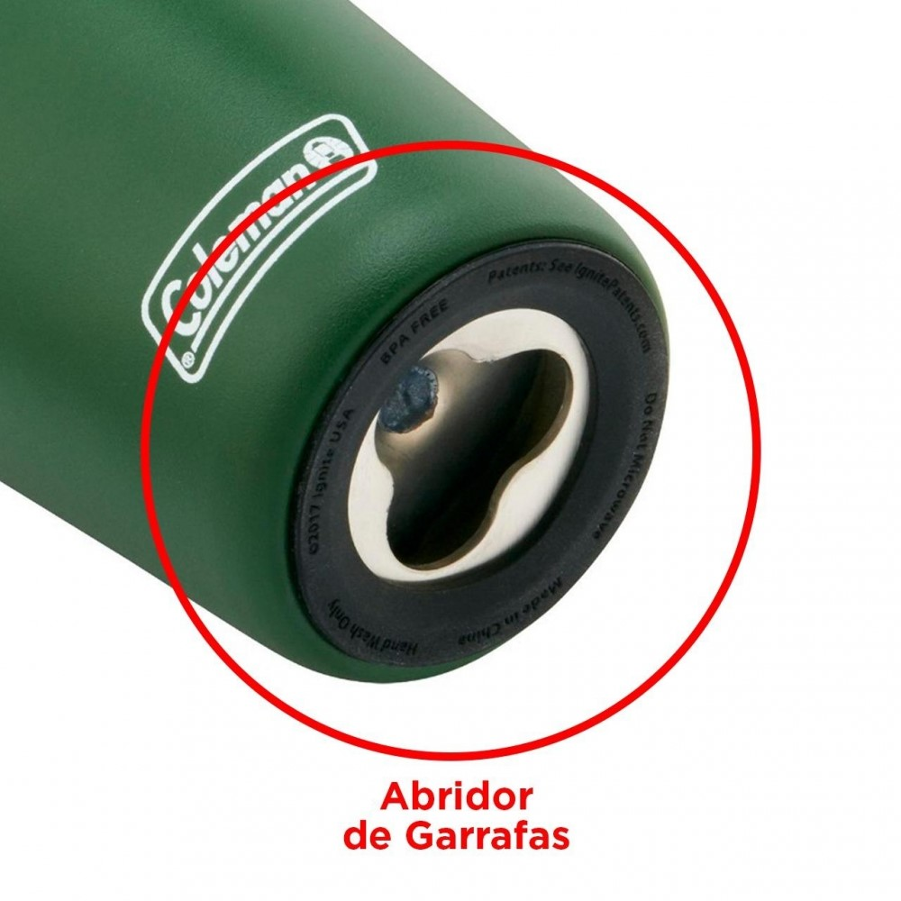 Copo Inox Com Tampa 591ml Verde Ref:110120010818 - Newell