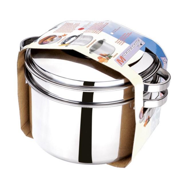 Espagueteira Inox N.22 3,3 Litros 2 Peças Ref:5087 - Zanella