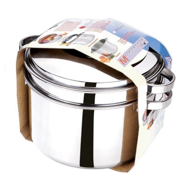 Espagueteira Inox N.26 6,5 Litros 2 Peças Ref:5083 - Zanella