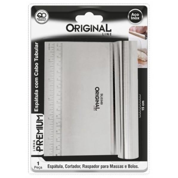 Espátula Inox Raspadora De Massa Linha Premium 6pol 15cm Ref:sl0349 - Original Line