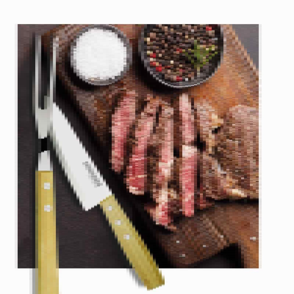 Faca Para Carne Linha Churrasco Paixao Nacional 8pol Ref:gx9506 - Marcamix
