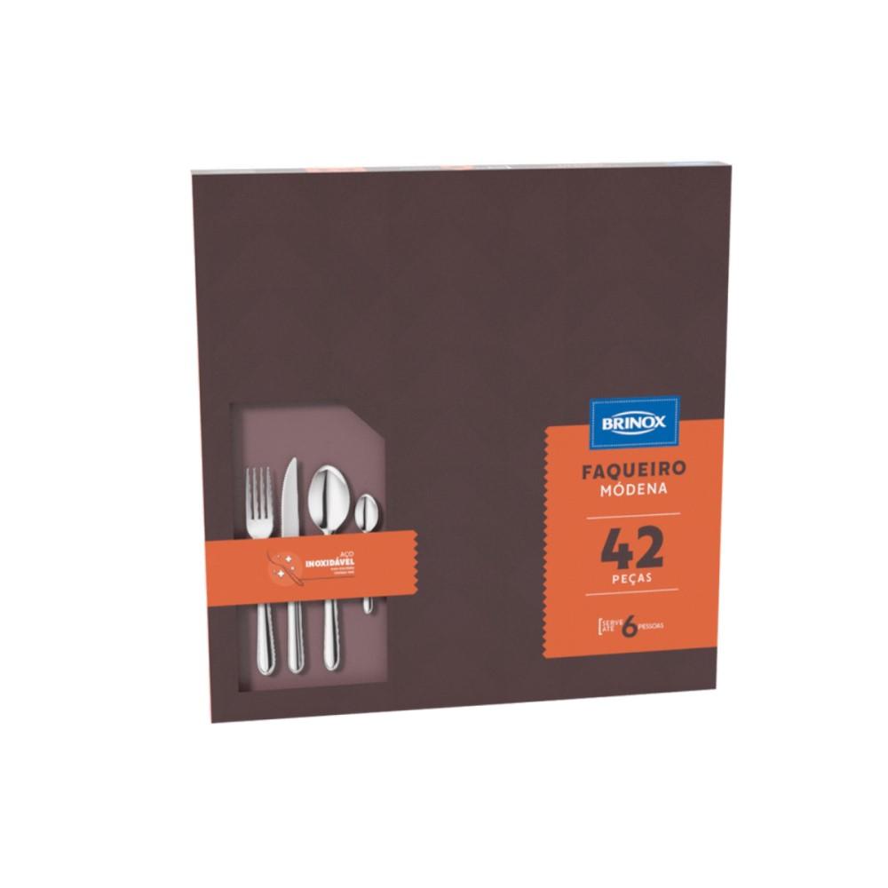 Faqueiro Modena 42 Peças Ref:5118/118 - Brinox