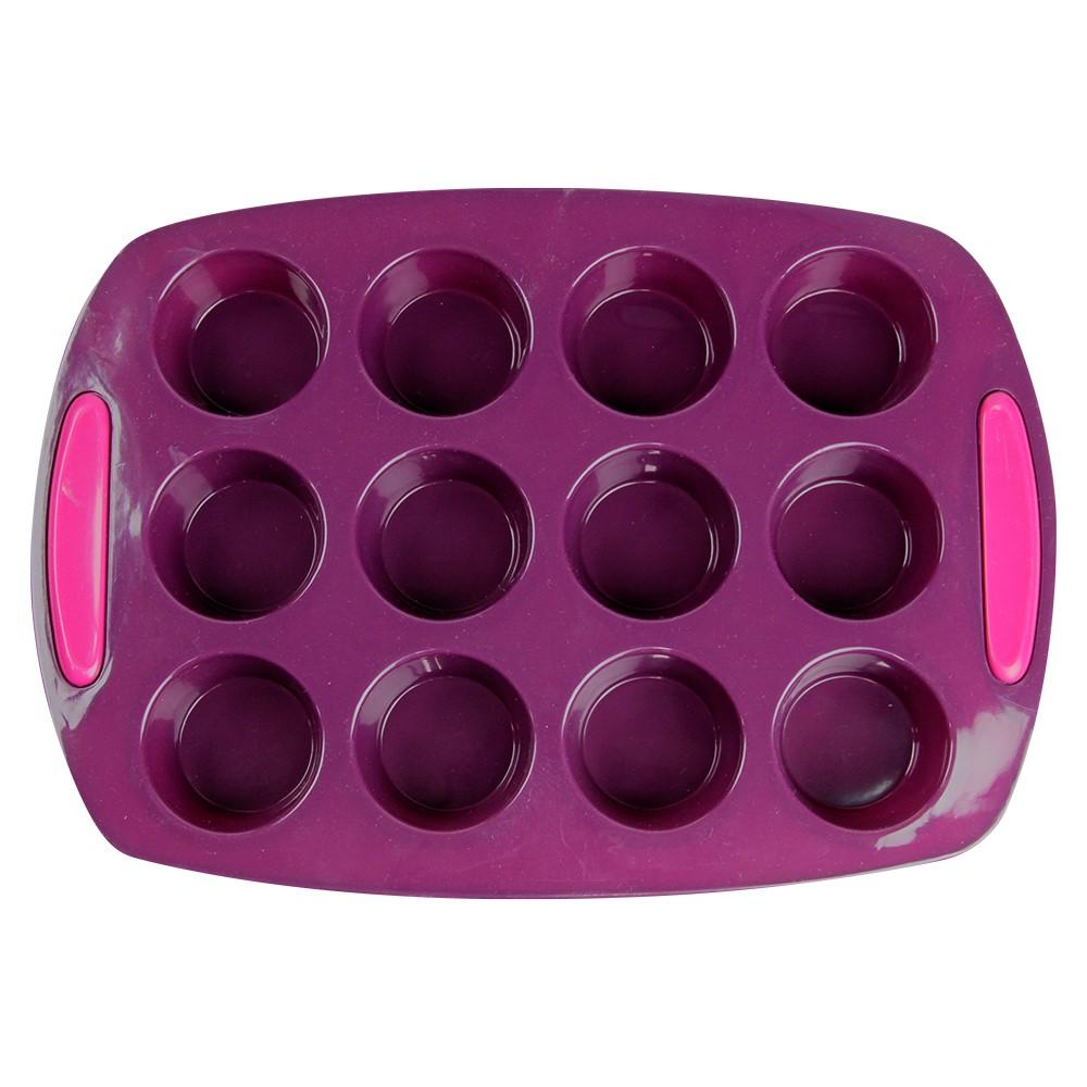 Forma De Silicone Para Muffins 12 Cavidades Silicone Line Ref:mc14112 - Marcamix