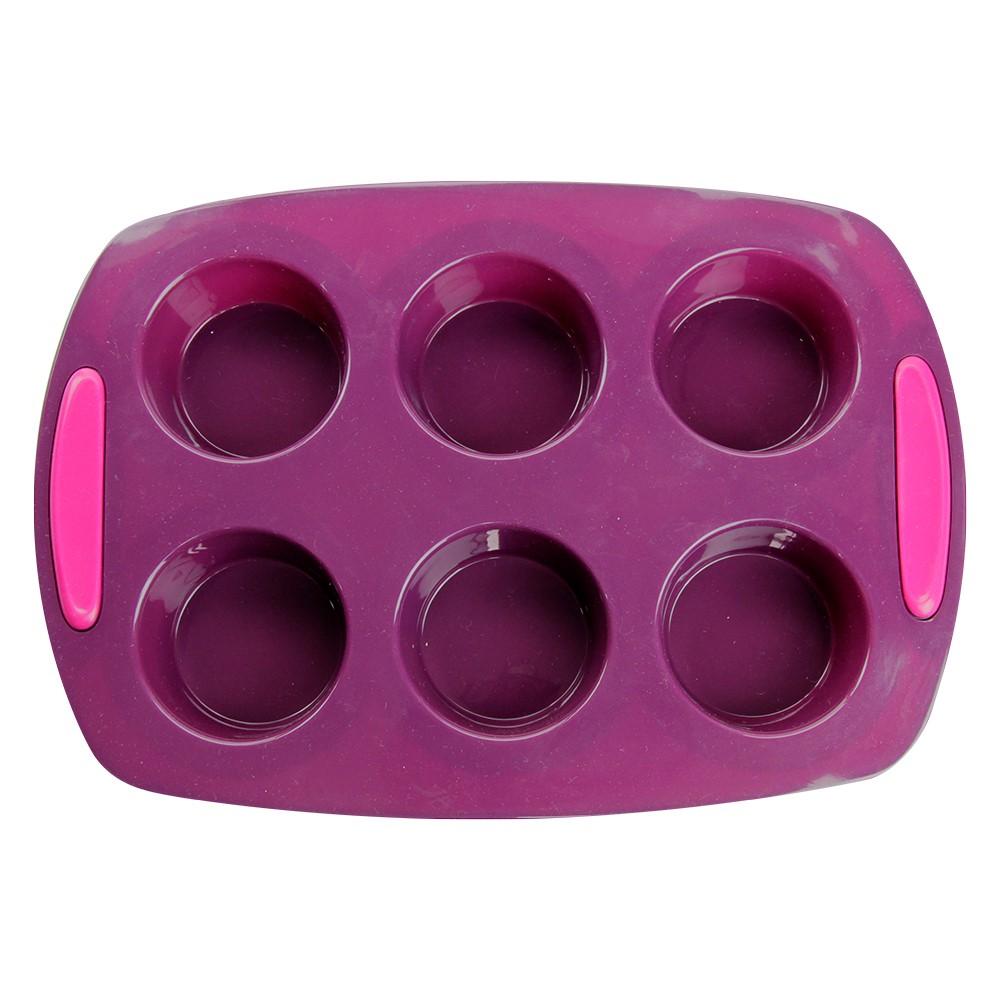 Forma De Silicone Para Muffins 6 Cavidades Silicone Line Ref:mc14113 - Marcamix