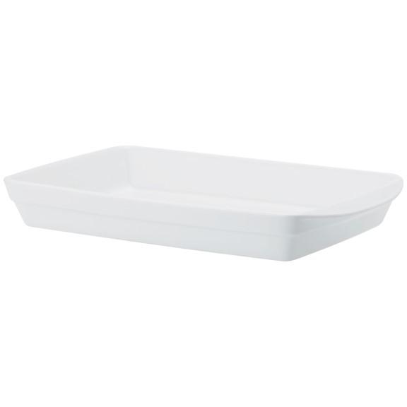 Forma Retangular Com Alça Em Porcelana Branca 40cm Calorama - Schmidt
