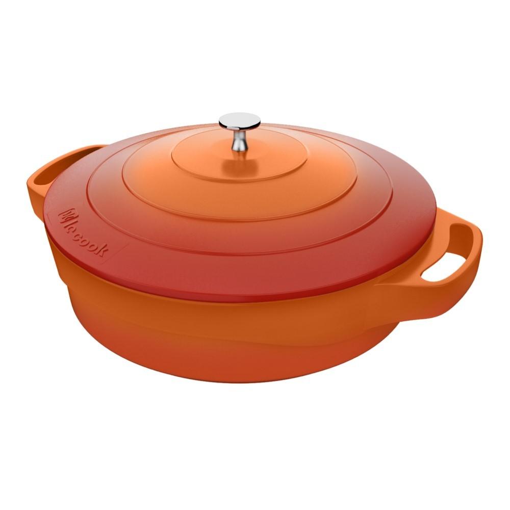 Frigideira Le Cook 24cm Com Tampa E Pegadores Ref:lc1806 - Le Cook
