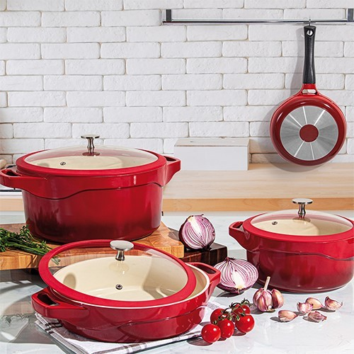 Frigideira Le Cook Red 28cm Com Cabo Destacavel Ref:lc1848 - Le Cook