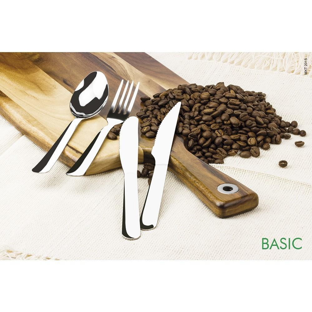 Garfo De Sobremesa Inox Linha Basic Com 6 Peças Ref:gx4052 - Marcamix