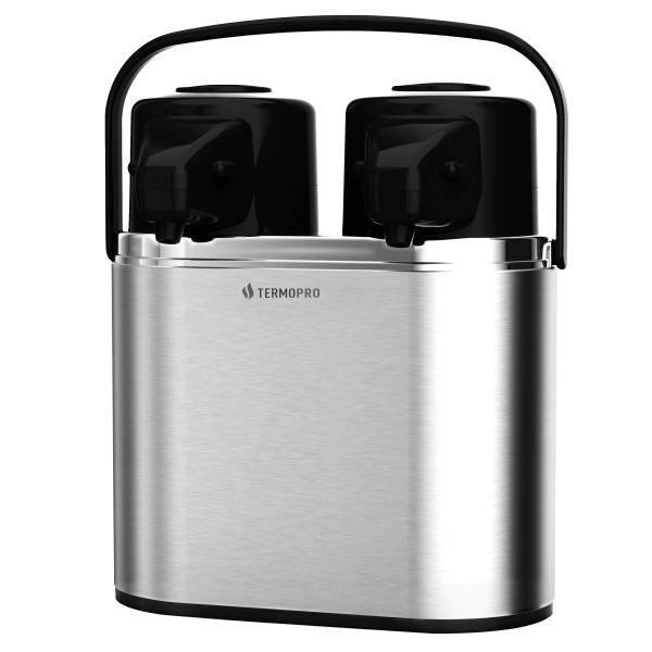 Garrafa Térmica Dupla Inox Leite 1,6 Litros + Café 1,6 Litros Ref:tp6540 - Termopro