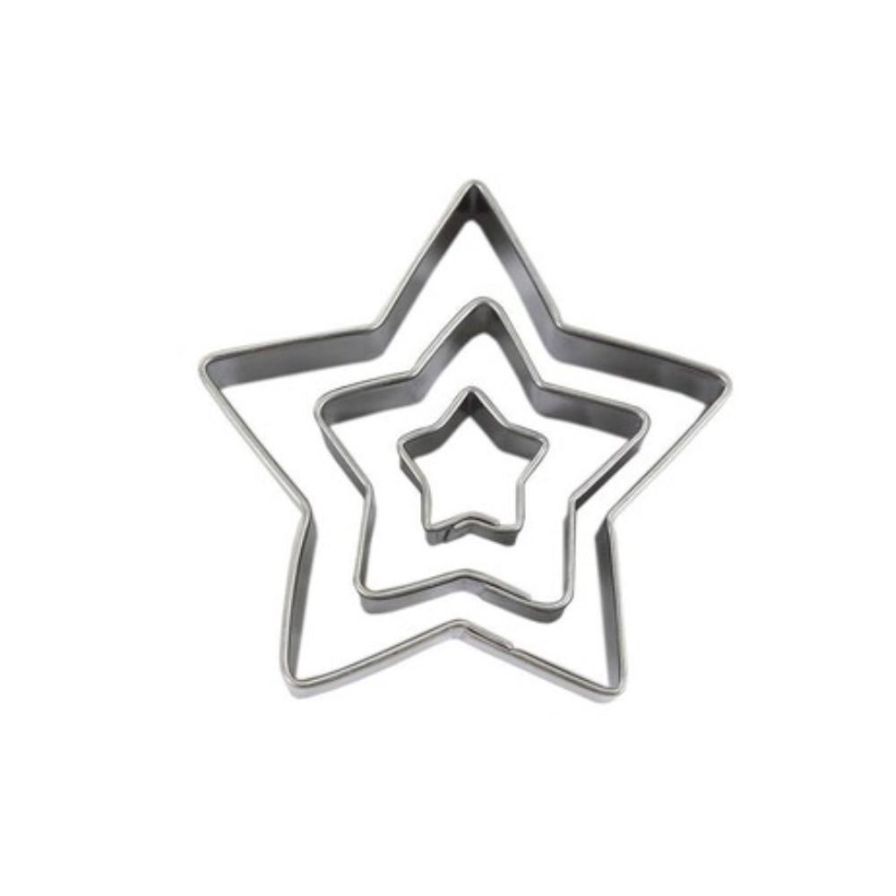 Jogo De Cortadores Inox Estrela 5 Peças Ref:co-105 - Konfektt