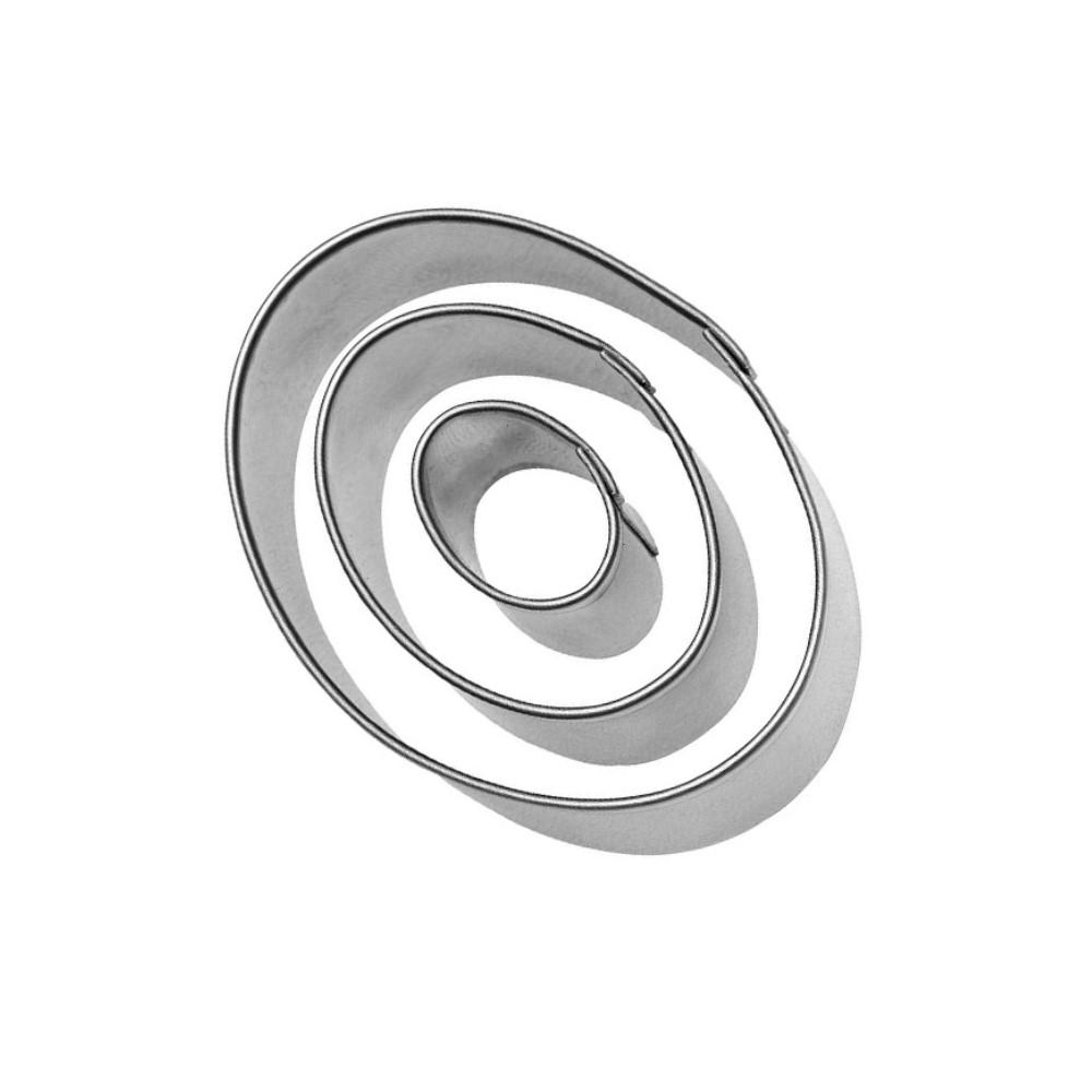 Jogo De Cortadores Oval 3 Peças Ref:co-106 - Konfektt