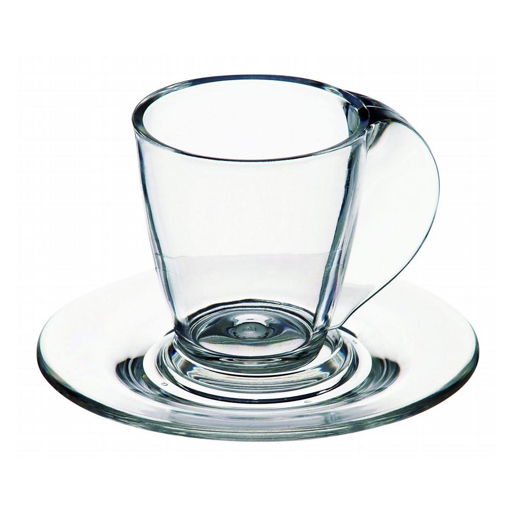 Kit C/4 Xícaras De Café C/pires Cristal Ref:6.0034.00 - Kos