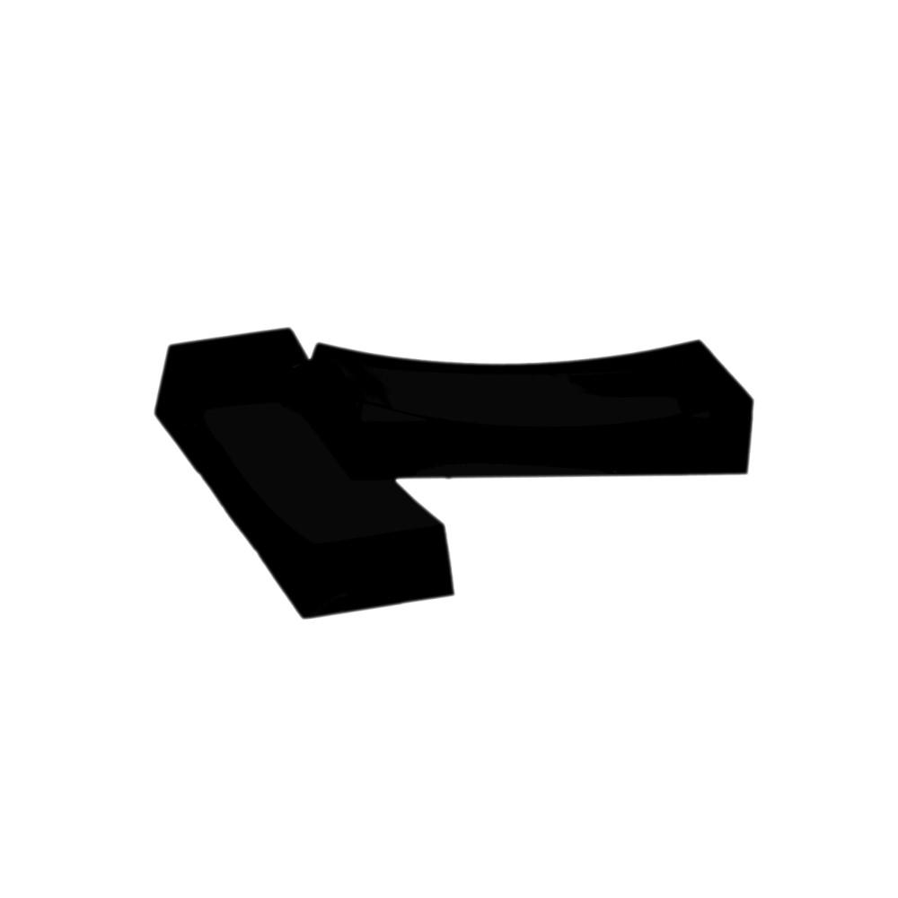 Kit C/6 Descanso P/talher Preto Ref:6.0020.05 - Kos