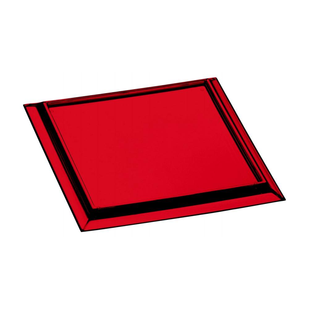 Kit Porta Copos Com 6 Peças Quadrado Vermelho Ref:6.0031.04 - Kos
