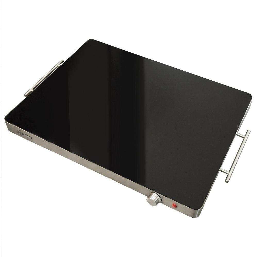 Mesa Térmica 400w Com Tampo Em Vidro Temperado 60x41x5,7cm 127v Ref:lc1705 - Le Cook