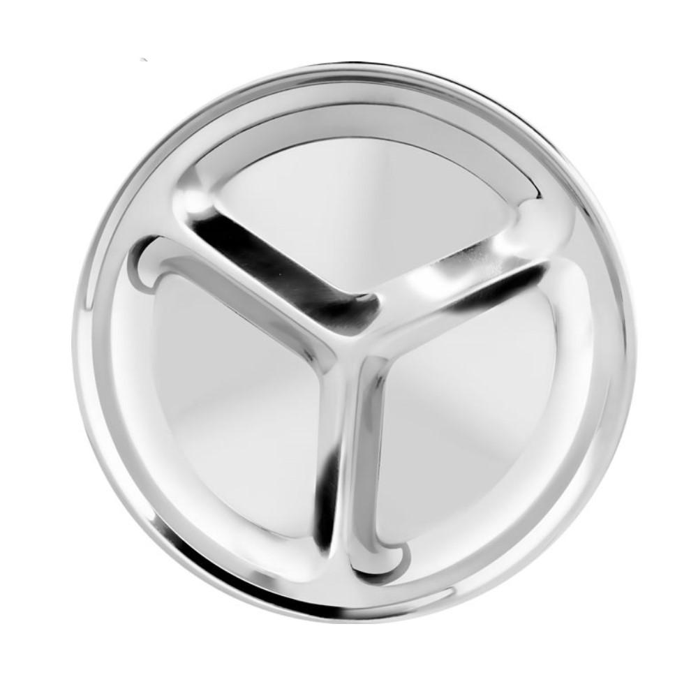 Petisqueira De Inox Com 3 Compartimentos Ref:ud296 - 123 Util