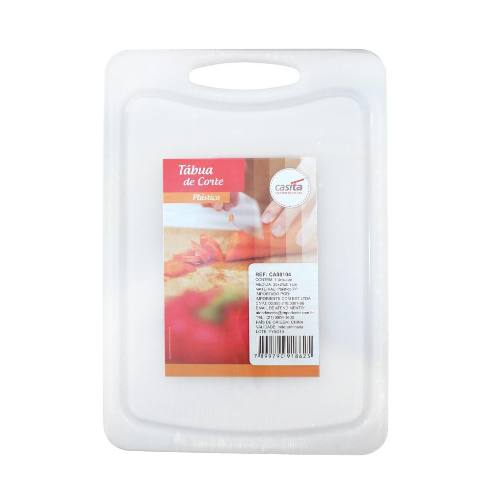 Placa De Corte 39x26x0,7cm Pp Branca Ref:ca08106 - Imporiente