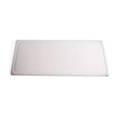 Placa De Corte De Polietileno 600x400x8mm Com Canaleta Branca Ref:plc-846 - Solrac