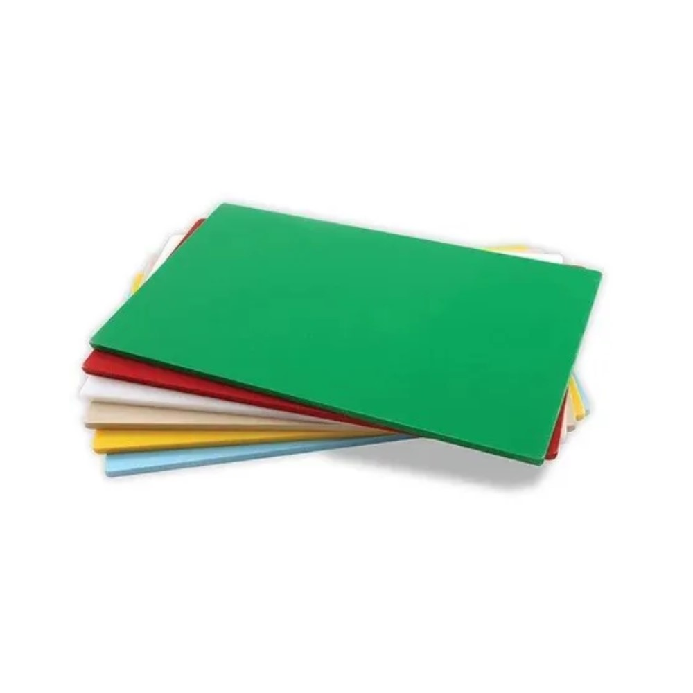 Placa De Corte Em Polietileno 330x230x6mm Lisa Verde Ref:pl-828 - Solrac