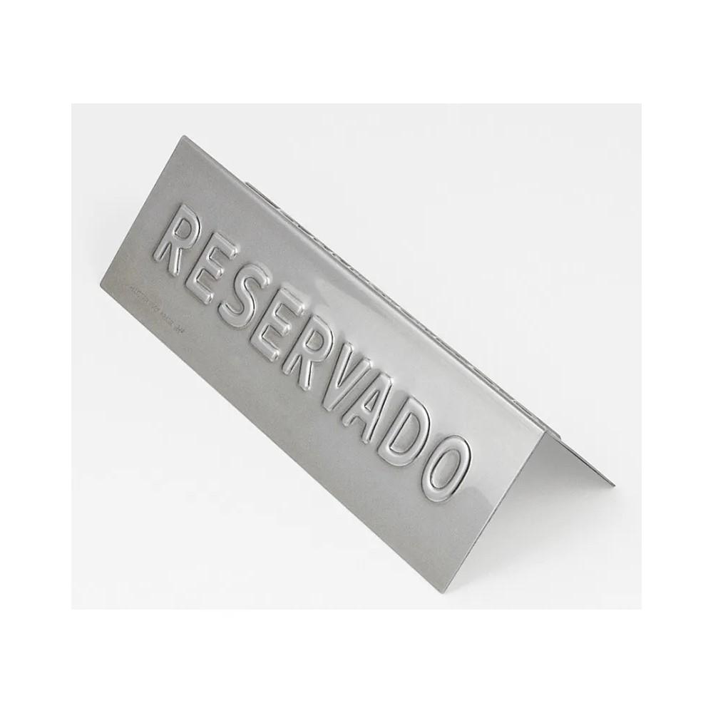 Placa Reservado Inox Ref:269 - Allissan