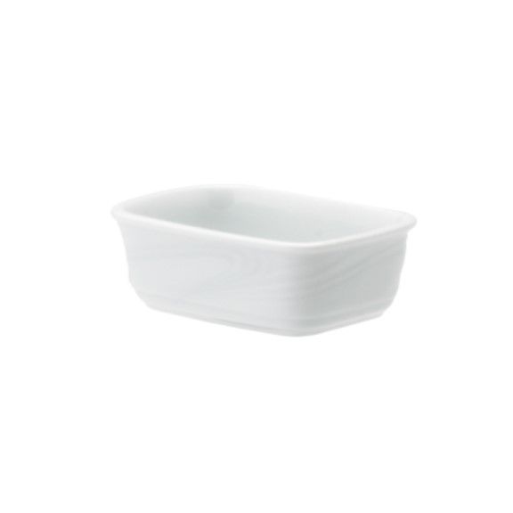 Porta Sache Em Porcelana Branca 12cm Waves - Schmidt