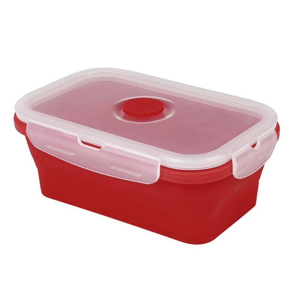 Pote Plástico Retrátil Em Silicone Vermelho Ref:4176 - Yuze