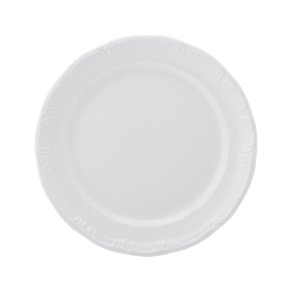 Prato Bolo/arroz Em Porcelana 30cm Pomerode Branca Ref:114.004.030 - Schmidt