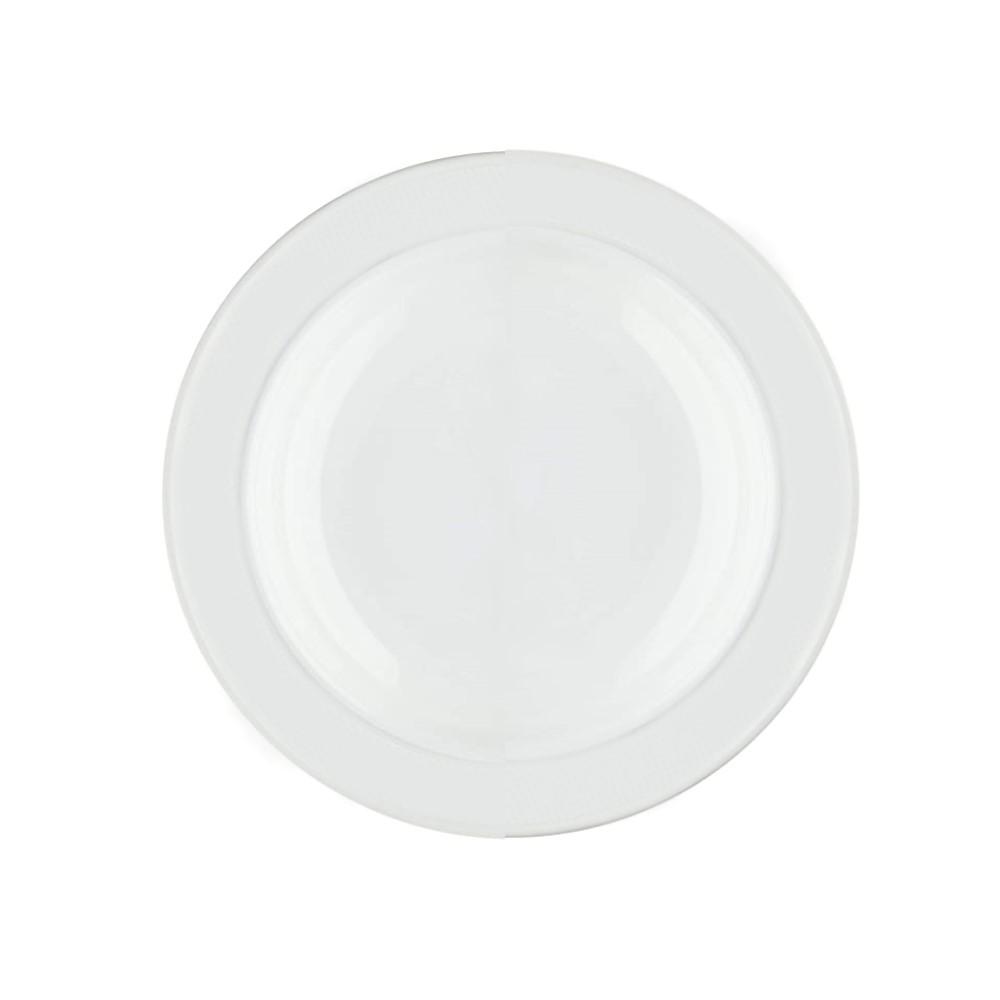 Prato Fundo Em Porcelana 23cm Lys Branca Ref:242.004.023 - Schmidt