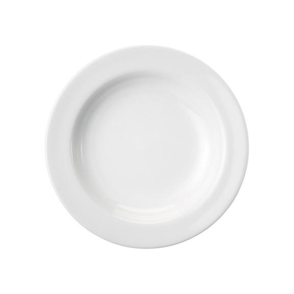 Prato Fundo Em Porcelana Branca 23cm Cilindrica - Schmidt