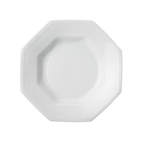 Prato Fundo Em Porcelana Branca 24cm Prisma - Schmidt