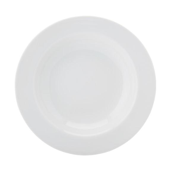 Prato Para Massa Em Porcelana Branca 28cm Cilindrica - Schmidt