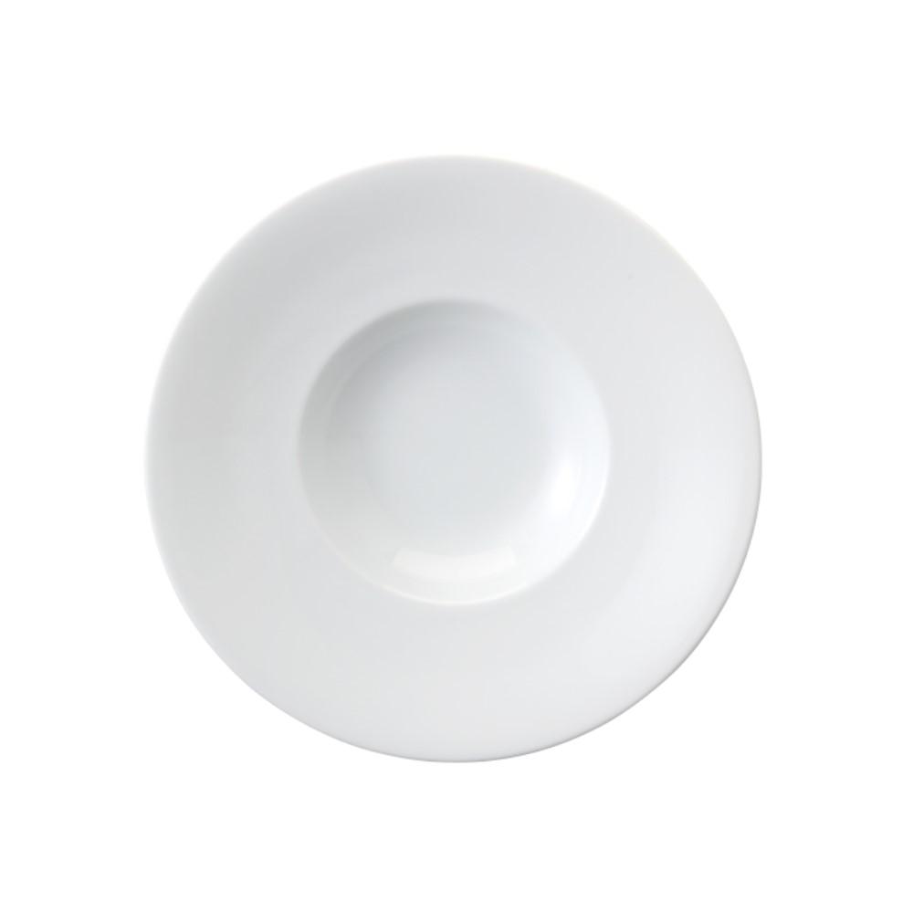 Prato Para Risoto Em Porcelana 21cm Risoto Branca Ref:080.004.021 - Schmidt