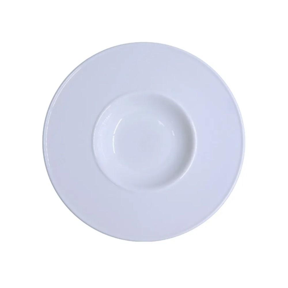 Prato Para Risoto Em Porcelana 27cm Lys Branca Ref:242.004.027 - Schmidt