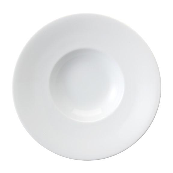 Prato Para Risoto Em Porcelana Branca 27cm Risoto - Schmidt