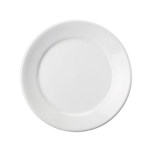 Prato Raso Em Porcelana Branca 24cm Convencional - Schmidt