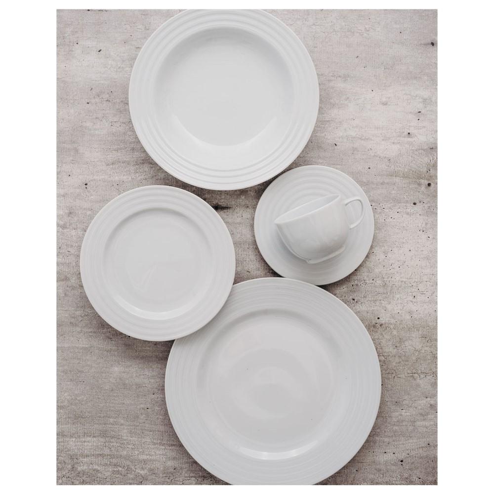 Prato Sobremesa Em Porcelana Arcos Branca Ref:240.004.019 - Schmidt