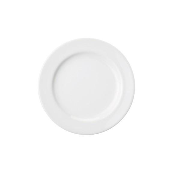 Prato Sobremesa Em Porcelana Branca 19cm Cilindrica - Schmidt