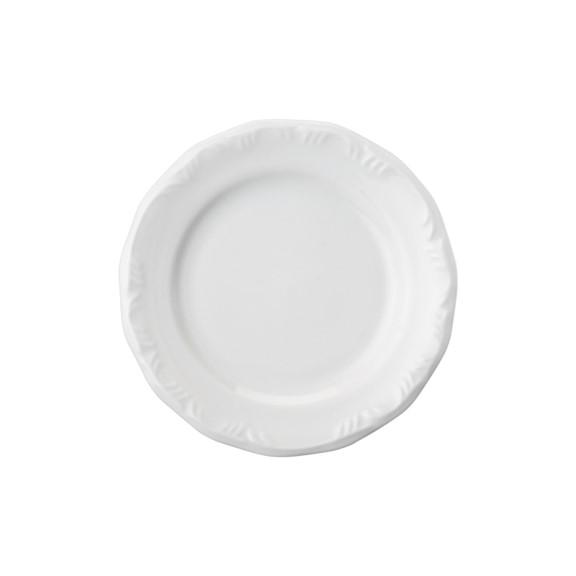 Prato Sobremesa Em Porcelana Branca 19cm Pomerode - Schmidt