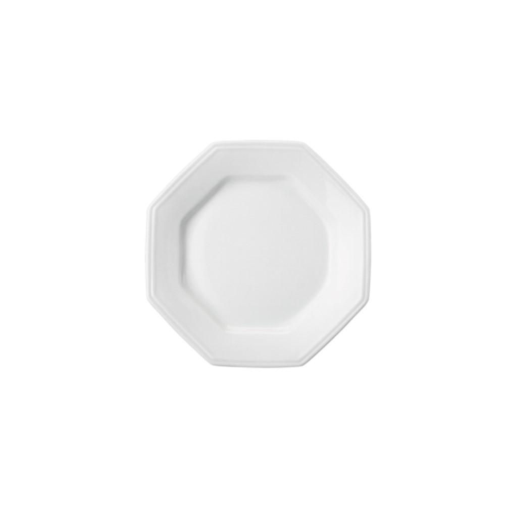 Prato Sobremesa Em Porcelana Branca 20cm Prisma - Schmidt