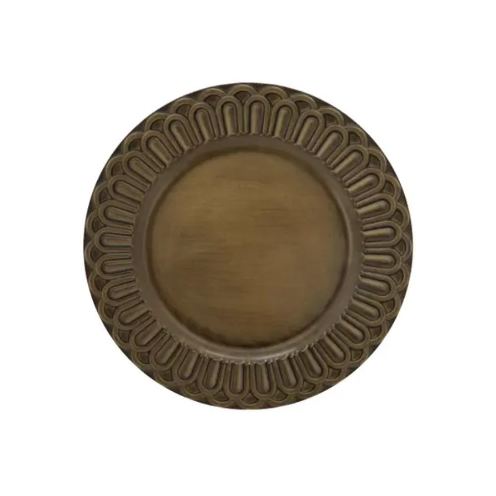 Sousplat Arcos Dourado Ref:sp20207 - Mimo
