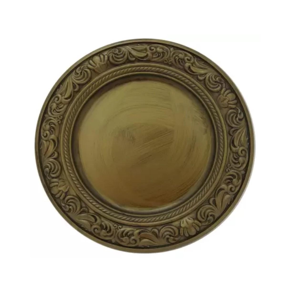 Sousplat Barroco Dourado Ref:sp20015 - Mimo