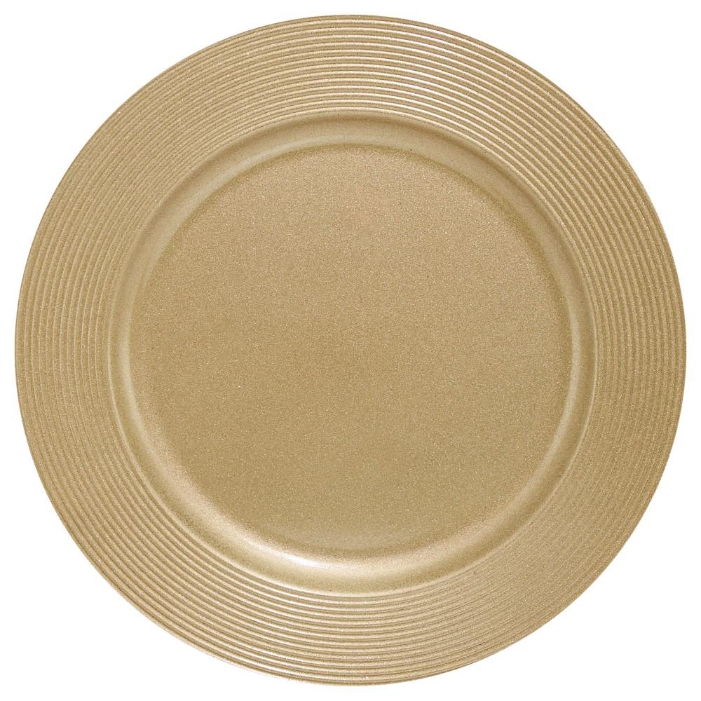 Sousplat Disco Dourado Ref:sp13716 - Mimo