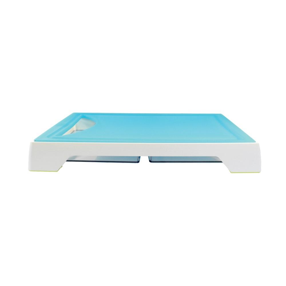 Tábua Para Corte Com 2 Bandejas Coletoras Azul Ref:gx0297 - Marcamix